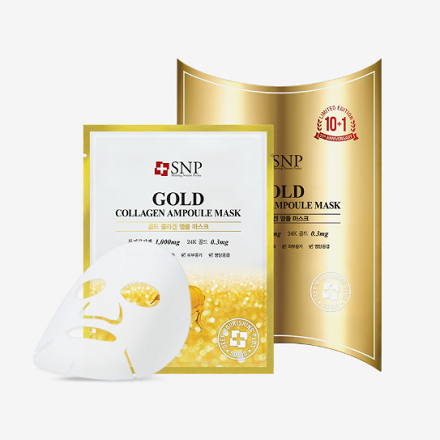 SNP gold collagen ampoule mask 【金色胶原蛋白面膜】